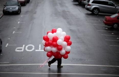 День святого Валентина отметили влюбленные всего мира. Сан-Франциско, Калифорния США. Фото: Justin Sullivan/Getty Images
