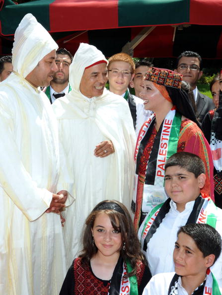 Палестинские дети встретились с королем Марокко 31 июля. Фоторепортаж. Фото: MAP/AFP/Getty Images
