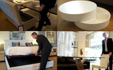 Закупщик и директор по маркетингу фирмы Mobilia Йоханнес Кау показывает нам стильную и многофункциональную мебель. Фото: Зоя Акка/Великая Эпоха (The Epoch Times)