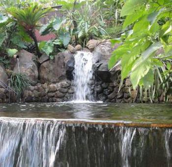 Место для отдыха: здесь слышно, как вода мягко сливается в бассейн.  Фото: Жан МОРАН/Великая Эпоха/The Epoch