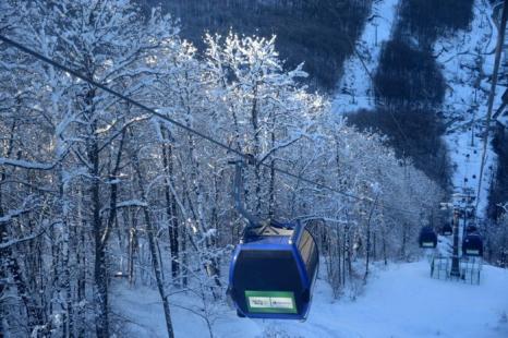 Путь к комплексу для соревнований по лыжным гонкам и биатлону «Лаура» в Сочи, 3 февраля 2013 года. Фото: KIRILL KUDRYAVTSEV/AFP/Getty Images