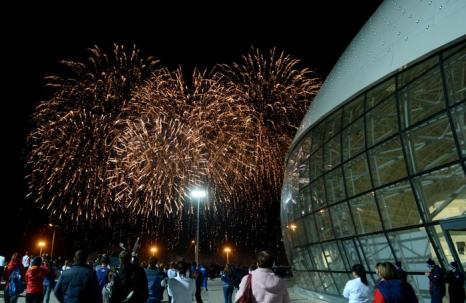 В Сочи отпраздновали год до Олимпиады 2014. Фото: NATALIA KOLESNIKOVA/AFP/Getty Images