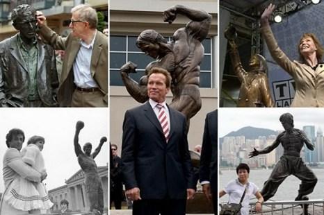 Памятники знаменитостям. Фотоколлаж с сайта bigpicture.ru
