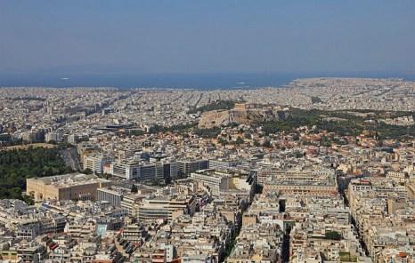 Вид с Ликавита в Афинах (Аттика, Греция). Фото: A.Savin/commons.wikimedia.org/