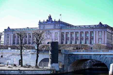 Здание риксдага. Находится в центре Стокгольма на острове Хельгеандсхольмен. Фото: Екатерина Дучинская/ Великая Эпоха (The Epoch Times)