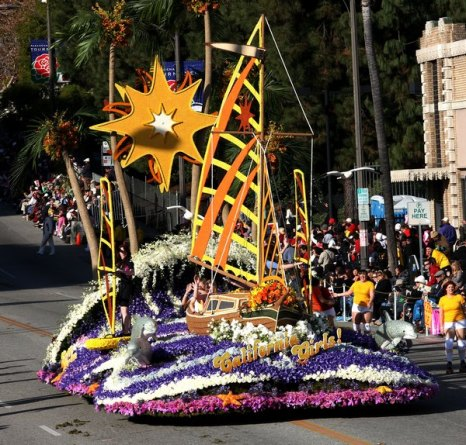 Грандиозный парад роз в Калифорнии. Фото: Alberto E. Rodriguez/Getty Images
