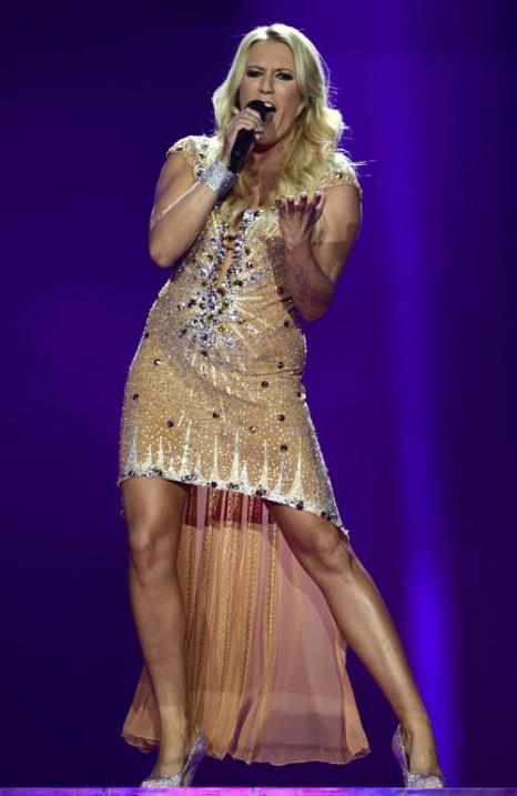 Коллектив Cascada из Германии в финале «Евровидения-2013». Фото: JOHN MACDOUGALL/AFP/Getty Images