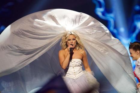 Криста Сиегфридс из Финляндии в финале «Евровидения-2013». Фото: Ragnar Singsaas/Getty Images