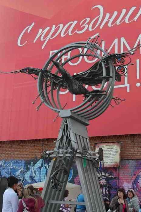 Кузнецы завершили общую работу – скульптуру «Птицы счастья», начатую в 2011 году. Фоторепортаж. Фото: Нина Апёнова/Великая Эпоха (The Epoch Times)