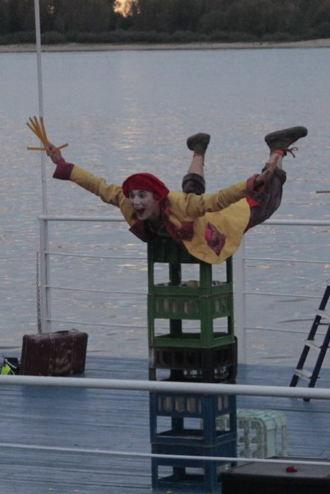 Клоун-мим Авабука. Фото: Николай Карпов/Великая Эпоха (The Epoch Times)