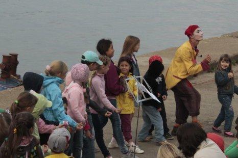 Интерактивная игра «Оркестр» на шоу «Корабли, рыбы и птицы». Фото: Николай Карпов/Великая Эпоха (The Epoch Times)