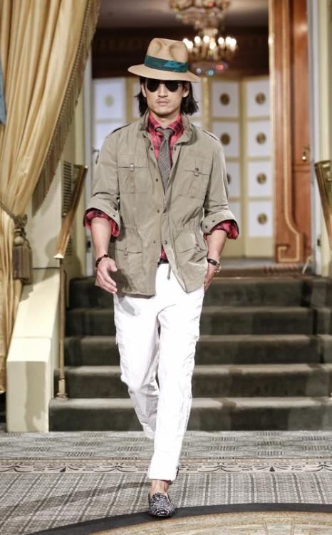 Известный дизайнер мужской спортивной одежды Майкл Бастиан представил новую коллекцию S/S весна 2014 в первый день Недели моды в Нью-Йорке 5 сентября 2013 года. Фото: Brian Ach/Getty Images