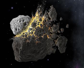Астероид. Фото:AFP/Getty Images