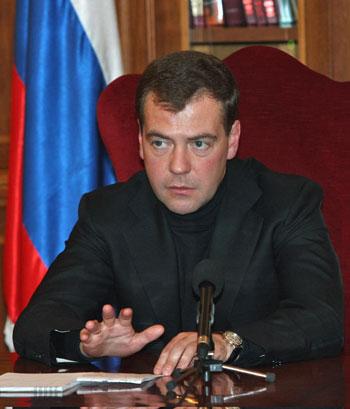 Президент Дмитрий Медведев.Фото:VLADIMIR RODIONOV/Getty Images