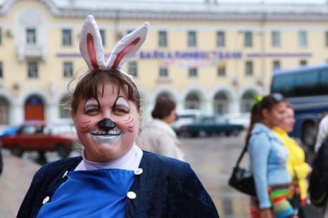 Юбилейный парад в Ангарске. Фото: Николай Ошкай/Великая Эпоха (The Epoch Times)