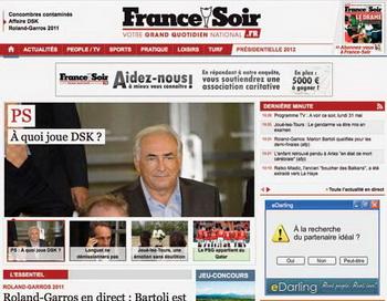 Французская газета France Soir. Фото с сайта francesoir.fr