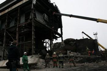 На шахте «Распадская». Фото с сайта mchs.gov.ru
