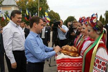Медведев в Брянске вместе с Януковичем участвовал в автопробеге. Фото с сайта kremlin.ru