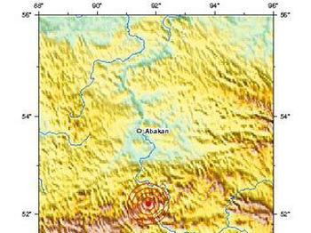 Землетрясение с эпицентром в Хакасии ощущалось в Кемерово. Фото  с сайта neic.usgs.gov