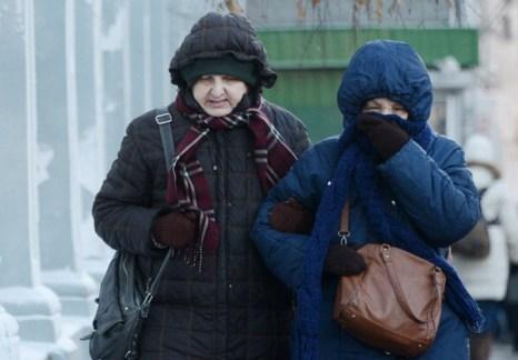 Морозы в Москве. Фото: NATALIA KOLESNIKOVA/AFP/Getty Images