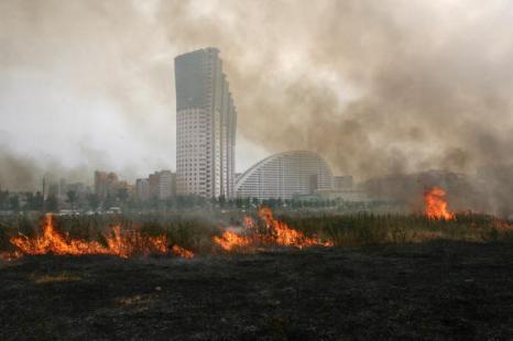 Из-за жары и засухи лесные пожары охватывают почти все регионы России.  Пожар подступился и к Москве. Фото: ARTYOM KOROTAYEV/AFP/Getty Images