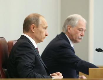 Госдума России открыла весеннюю сессию. Фото: ALEXEY DRUZHININ/AFP/Getty Images