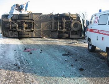 В ДТП автобуса с грузовиком в Красноярском крае погибли 8 человек.  Фото с сайта club-rf.ru