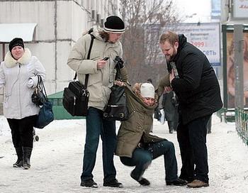 Москва скована ледяным панцирем. Фото с сайта mk.ru