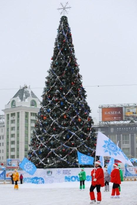 Открытие главной ёлки в Новосибирске. Фото: Сергей Кузьмин/Великая Эпоха (The Epoch Times)