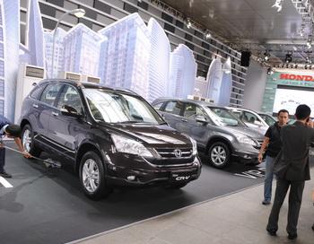 Компания Honda представила обновленную модель CR-V  2010. Фото: ROMEO GACAD/AFP/Getty Images