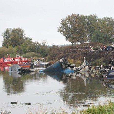 На месте крушения самолета Як-42 под Ярославлем. Фото РИА Новости