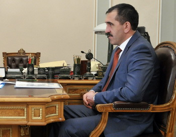 Президент Ингушетии Юнус-Бек Евкуров. Фото: Alexander Aleshkin/Epsilon/Getty Images