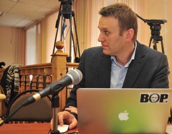 Кандидат в мэры Москвы Алексей Навальный. Фото: SERGEY BROVKO/AFP/Getty Images