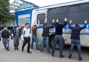 Полиция была вызвана Александром Агеевым, главой штаба Николая Левичева. Фото: MAXIM MARMUR/AFP/Getty Images