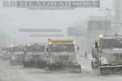 Москва. Снег на дорогах. Фото: DENIS SINYAKOV/AFP/Getty Images