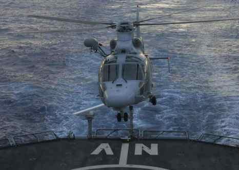 Украинский НИИ разработал систему безопасной работы вертолёта корабельного базирования. Фото: PIERRE VERDY/AFP/Getty Images