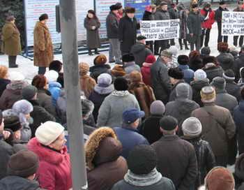 В Липецке проходит митинг против произвола ЖКХ. Фото: unise.ru