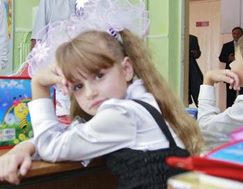 Школьники. Фото: DMITRY ASTAKHOV/AFP/Getty Images