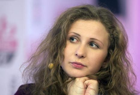 Мария Алёхина 27 декабря на первой пресс-конференции в Москве. Фото: YEVGENY FELDMAN/AFP/Getty Images