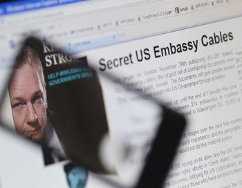 Сандал вокруг WikiLeaks разгорелся после того, как на сайте были опубликованы секретные  документы дипломатической службы США. Фото: THOMAS COEX/AFP/Getty Images