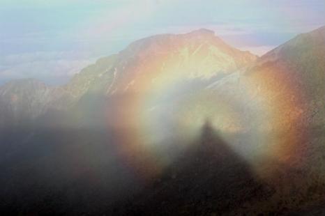 Брокенский призрак на горе Гриздейл-Пайк в Камбрии, Англия. Фото: Andrew Smith/Wikimedia Commons