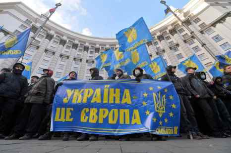 Украина. Киев. Фото: SERGEI SUPINSKY/AFP/Getty Images