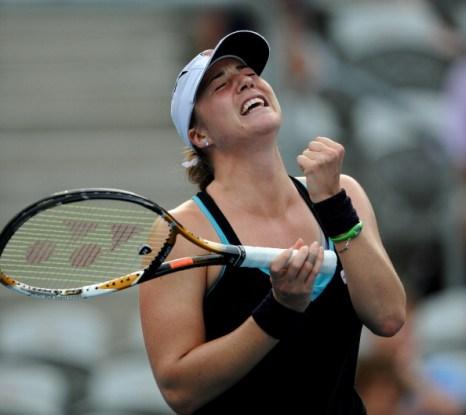 Алиса Клейбанова и Ким Клийстерс в полуфинале турнира Australian Open. Фоторепортаж. Фото: Mark Nolan/Getty Images