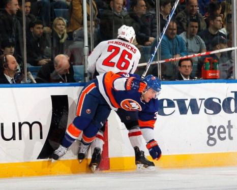 Благодаря подачам  Александра Овечкина, «Вашингтон» выиграл матч у «Нью- Йорк Айлендерса» со счетом 2:1. Фото: Mike Stobe/NHLI via Getty Images