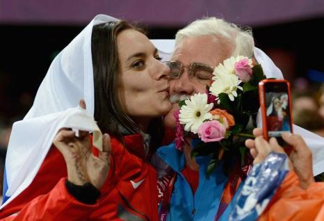 Елена Исинбаева — прыгунья с шестом, стала бронзовым призёром Олимпиады в Лондоне.  Фоторепортаж. Фото:  Paul Gilham/Getty Images