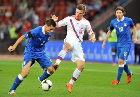 Сборная России  выиграла у Италии  товарищеский матч по футболу  со счетом  3:0. Фоторепортаж и видео из  Цюриха. Фото: Claudio Villa/Getty Images