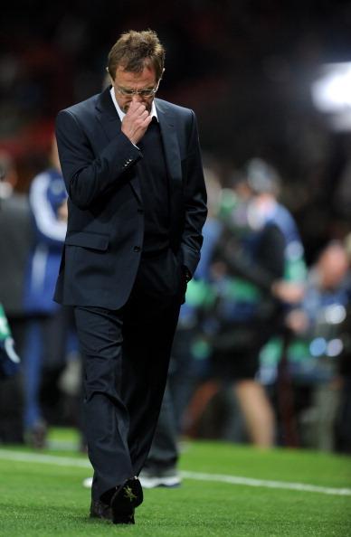Фоторепортаж с матча «Манчестер Юнайтед»  -  «Шальке 04».  Радость победы и горечь поражения.  Фото: Lars Baron/Michael Regan/Getty Images