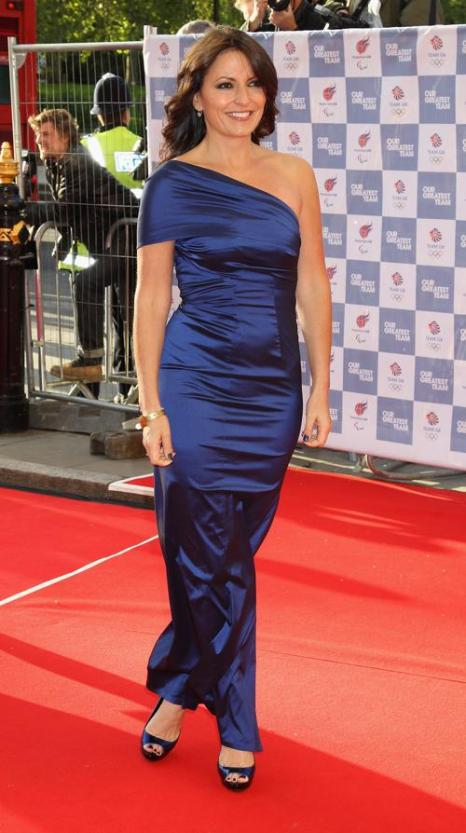 Гости на Олимпийском концерте в Лондоне. Davina McCall. Фоторепортаж из  Royal Albert Hall. Фото: Alastair Grant -WPA Pool/Getty Images