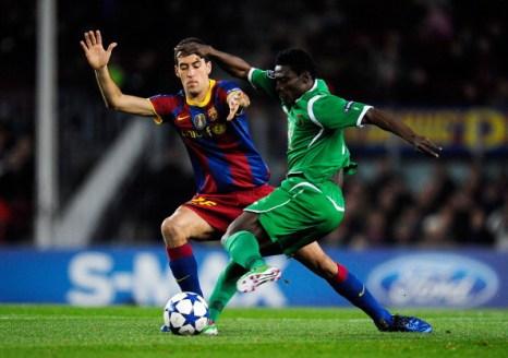 «Рубин» проиграл «Барселоне» со счетом 2:0. Фоторепортаж. Фото: JOSEP LAGO, LLUIS GENE/AFP/Getty Images