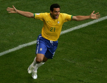 Игрок сборной Бразилии Фреду. Фото: Jamie McDonald/Getty Images
